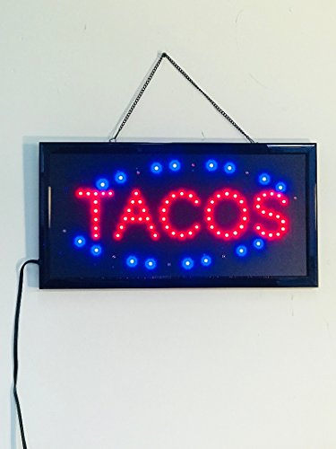 Bright Led Neon Light Animated Motion Open Sign For Tacos Store Shop Restaurant
