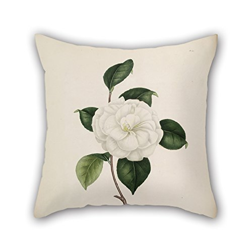 Alphadecor Flower Pillow Shams 16 X 16 Inches / 40 By 40 Cm Best Choice For Saloon,boys,family,relatives,couples,kids Room With 2 Sides