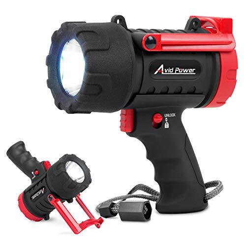 Avid Power Spotlight USB Rechargeable Handheld Flashlight(Spot Light) with 900