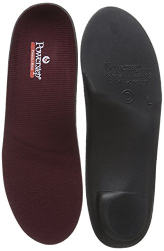 Price comparison product image Powerstep Pinnacle Maxx Full Length Orthotic Shoe Insoles ,Maroon/Black, Men's 7-7.5/ Women's 9 - 9.5 M US