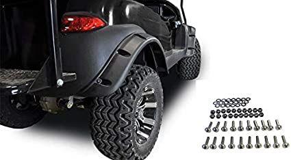 Amazon Com Huskey Club Car Fender Flares Fit Precedent Golf Cart Set Of 4 W Stainless Steel Bolts Sports Outdoors