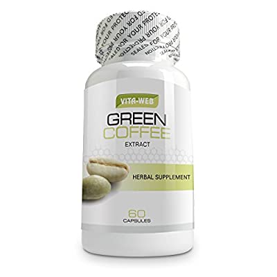 Pure Green Coffee Bean Extract 800mg Extra Strength Formula in 60 Vegetable Capsules. Best Known for Weight Loss & Fulltime Energy