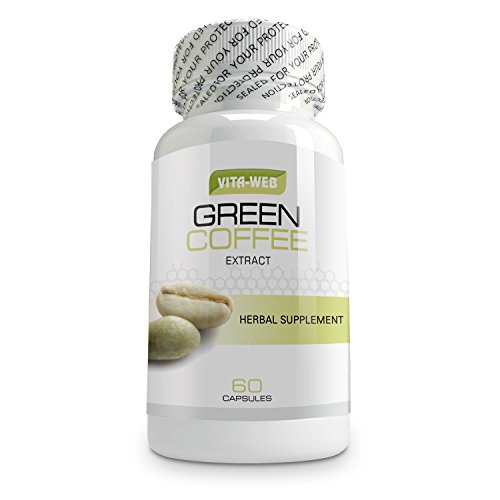 Pure Green Coffee Bean Extract 800mg Extra Strength Formula in 60 Vegetable Capsules. Green Coffee Beans Best Known for Weight Loss & Fulltime Energy