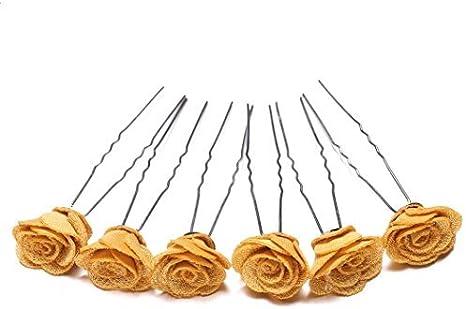 Rose Flower /& Heart Grips Clips Bridesmaid Bobby Pins Hair Accessories Wedding
