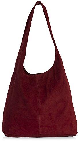 Deep Red Suede Bag - 2