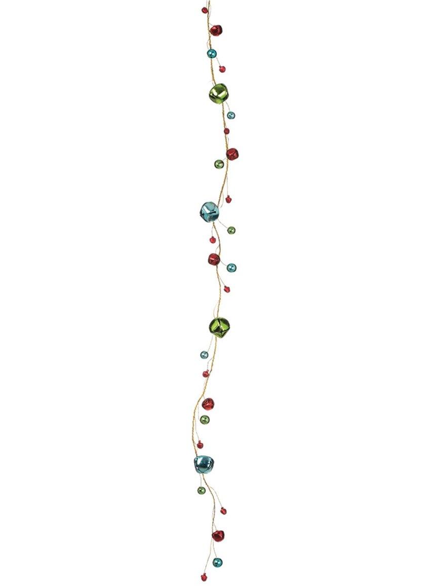Sullivans 5' Multicolor Jingle Bells Gold-Tone Wire Garland