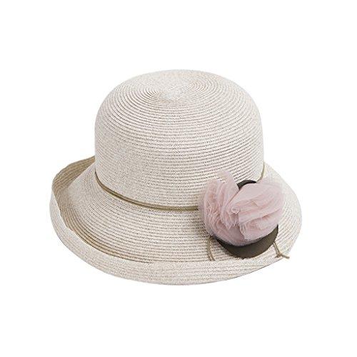 Moda color Sol Gray Color De Paja Meter Solar Ms Verano Elegante Visera Sombrero Lizhiqiang Color Protector UqTnPzPa