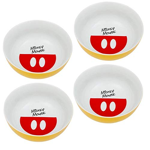 (Vandor Disney Mickey Mouse 4 Piece 6 Inch Ceramic Bowl Set (89136))
