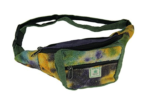 - Earth and Sun Tie Dye Woven Organic Hemp Fanny Pack
