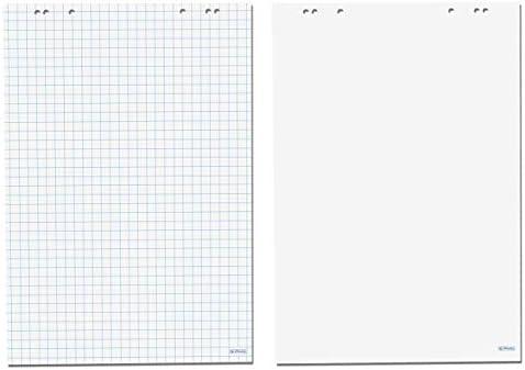 Herlitz Flipchartblock, 68x99cm 10 Böcke (5 Blöcke kariert/blanko + 5 Blöcke blanko/blanko)