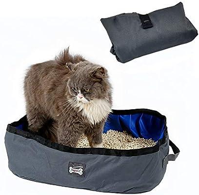 Arenero plegable y portátil para gatos de Petneces, resistente al agua, para viajes, al aire libre, caja para arena de gato: Amazon.es: Productos para mascotas