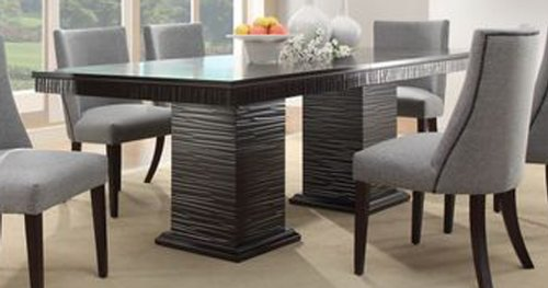 Homelegance 2588-92 Trent Home Chicago Dining Table in Deep Espresso, Black