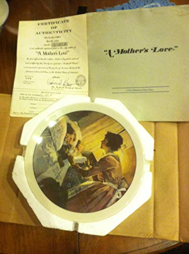 A Mother's Love Norman Rockwell Mothers Day 1976 Plate by Rockwell Society