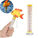 GOODYBUY Floating Pool Thermometer, Large Size with String Swimming Pool Thermometer Outdoor/Indoor Bath Water Hot Tub Spa Animal Thermometer(Gold Fish)