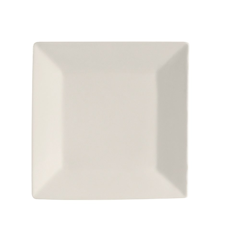 CAC China RE-SQ16 American Stoneware Square Plate, 10-Inch, Box of 12