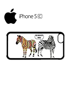 LJF phone case Zebra You Are Doing it Wrong At Mobile Cell Phone Case Cover iPhone 5c White