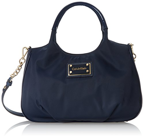 Calvin Klein 3 TB Nylon Shopper Top Handle Bag Navy One Size