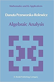 Algebraic Analysis (Mathematics and its Applications)