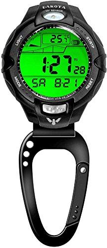 Dakota Temperature Sensor Clip Watch - Black