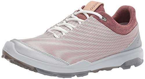 (ECCO Women's Biom Hybrid 3 Gore-Tex Golf Shoe, White/Black Transparent Yak Leather, 9 M US)