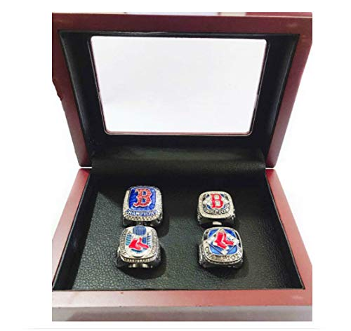 2018 World Series Ring - Nine Culture Red Sox 4 Years World Series Baseball Championship Rings Super Bowl Collectible Gift Fashion Set 2004 2007 2013 2018(Size 8-13) with High-end Wooden Box (10)