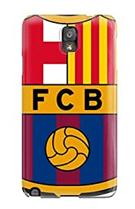Galaxy Note 3 Case Cover - Slim Fit Tpu Protector Shock Absorbent Case (barcelona Fc)