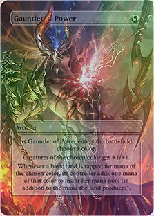 Gauntlet of Power - Casual Play Only - Customs Altered Art Foil