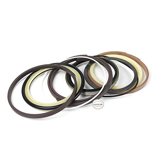 SK210-6E Arm Cylinder Repair Seal Kit - SINOCMP Service Seal Kits for Kobelco SK210-6E Excavator Parts, 3 Month Warranty: