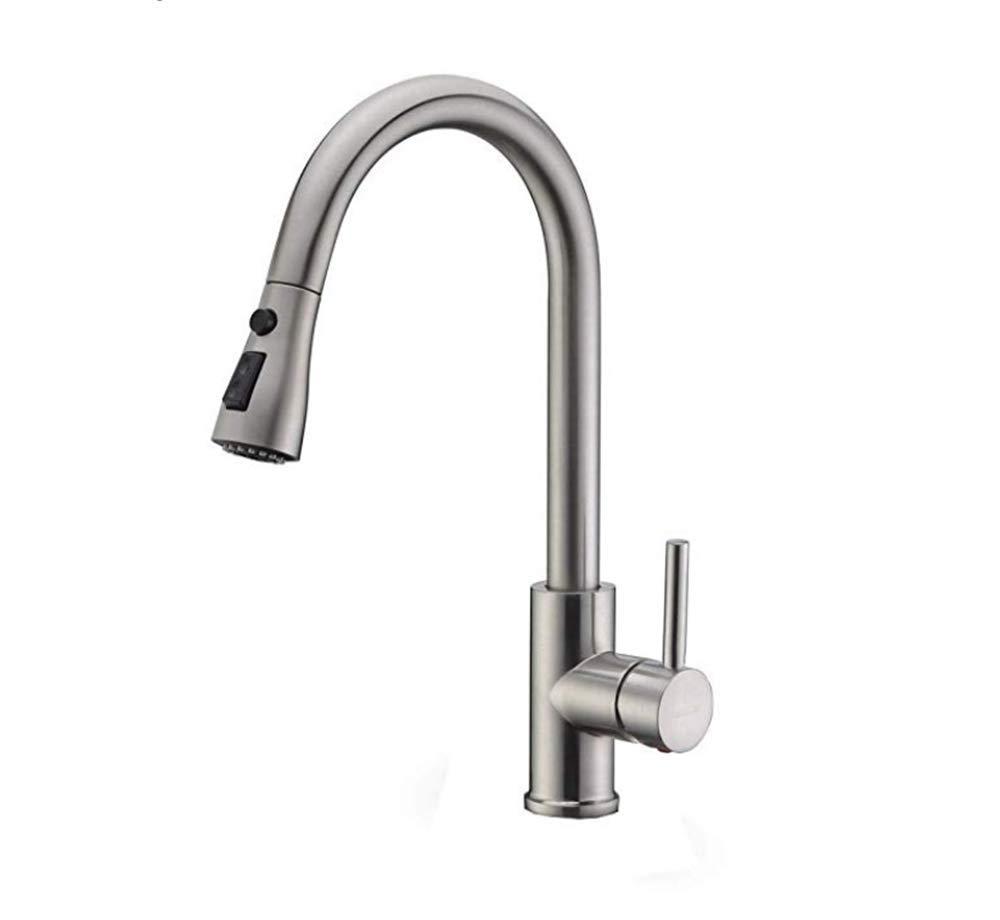 Edelstahl Einhand Mischer Einhebel  Kitchen Sink Bar Wasserhahn Nickel Gebürstet Einhebel Auslauf   Spültischarmatur