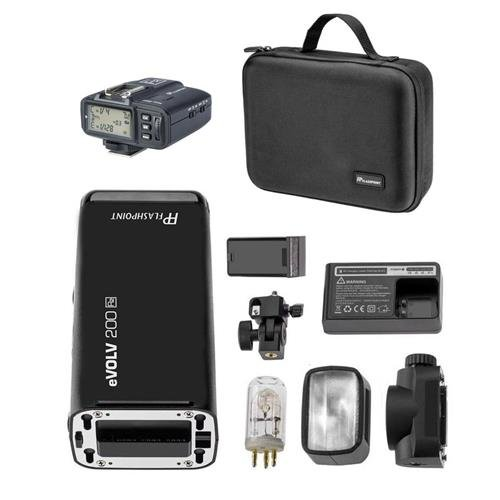 Flashpoint eVOLV 200 TTL Pocket Flash for Sony with Built-in R2 2.4GHz Radio Remote System (AD200 Pocket Flash) by Flashpoint