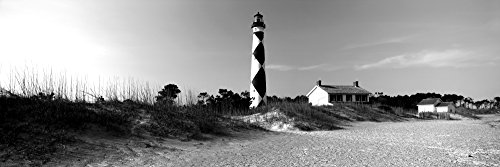 Posterazzi PPI172590LARGE Cape Lookout Lighthouse Outer Banks North Carolina USA Poster Print, 12 x 36