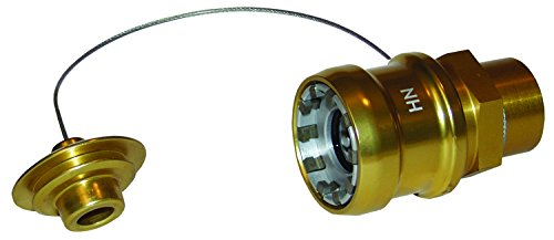 Dixon HN-P 3/4'' Gold FNPT Hydraulic Nozzle with Plug, 0.75'' ID, Anodized Aluminum