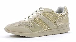 G by Guess Women's Fax Fashion Sneaker,Gold Multi,8.5 M US