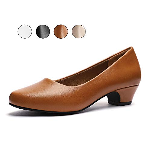 GUCHENG Women's Chunky Heels Pump Shoes Dress Office Shoes Formal Heels Shoes (9.44