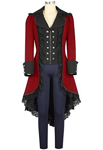obtai Women's Gothic Tailcoat Steampunk Jacket Tuxedo Suit Coat Victorian Costume ()