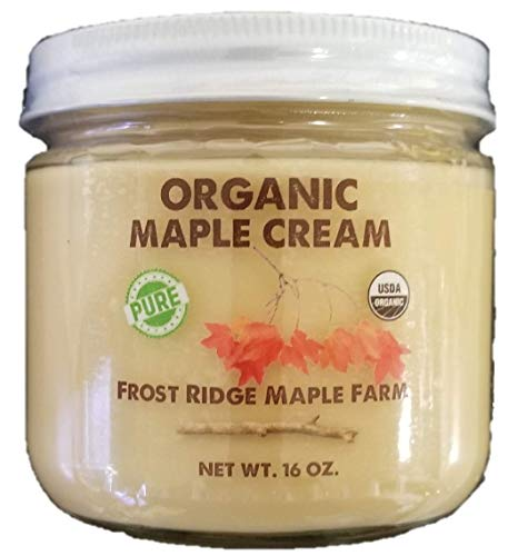 Dairy Free Cream - Frost Ridge Maple Farm, Organic Maple Cream, Grade A, One Pound (16 oz)