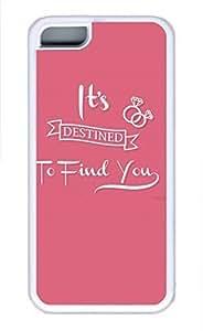 iPhone 5c case, Cute Destined iPhone 5c Cover, iPhone 5c Cases, Soft Whtie iPhone 5c Covers