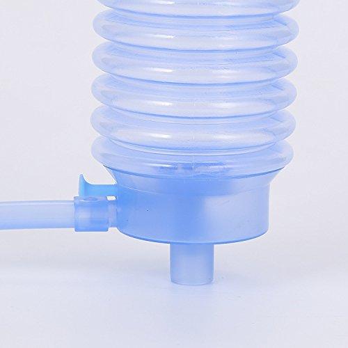 Gudhi Water Drinking Bottle Hand Press Pump Dispenser Blue