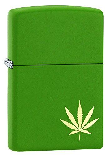 Zippo green Matte Marijuana Leaf Pocket Lighter
