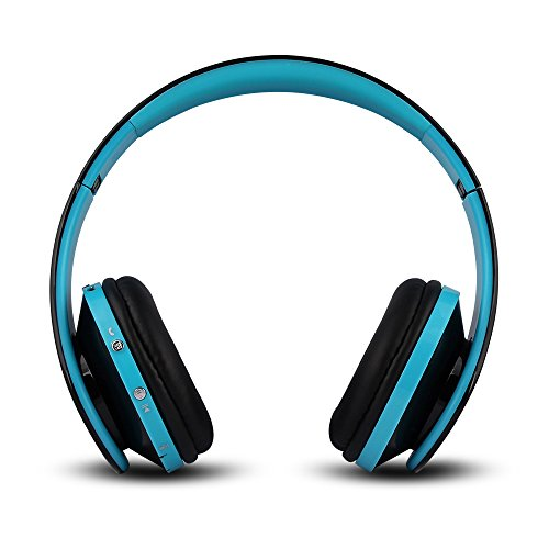 FX-Viktaria Dual Mode Wireless Over-Ear Headphone On Ear, Smartphones, Tablets, PC and Laptops-Black Blue 01