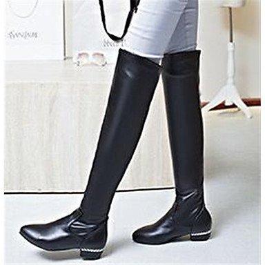 GLL&xuezi Damen Stiefel Komfort Nubukleder PU Normal Herbst Normal PU Schwarz 5 - 7 cm schwarz 1e8577
