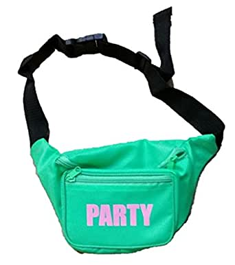 Neon Green Party Fanny Pack, One Size