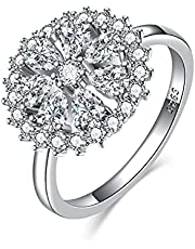 Sterling Silve Wedding Rings for Women,Moissanite Engagement Ring,Anniversary Promise Rings for Her, I Love You Gifts