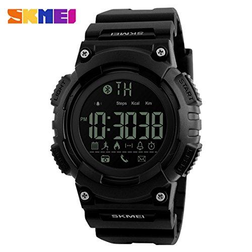 SKMEI Men Smart Watch Remote Camera Call Reminder Digital Wristwatches Pedometer Waterproof Man Sport Watches Relogio Masculino
