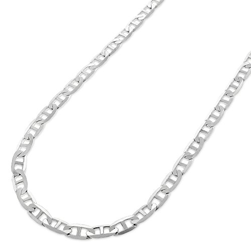 Sterling Silver Italian 3.5mm Mariner Anchor Link ITProLux Solid 925 Flat Necklace Chain 16