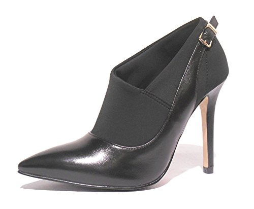 MC106 zapatos tejido decollet CAF con Nero elástico negros NOIR Mujer 1wP75