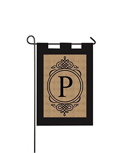 (Gifted Living 14B2704P Sub Monogram Letter P Garden Flag,)
