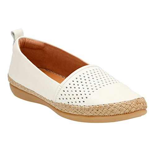 Slip White 10 Helen On Reeney CLARKS Shoes Women's Leather gwBAnqt