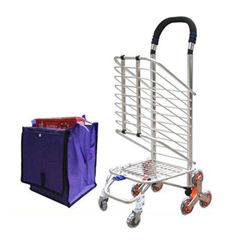 LUCKYYAN 35L Lightweight Aluminum alloy Shopping Trolley Folding 8 Wheel Large Capacity Shopper by LUCKYYAN