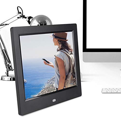 Digital Photo Frame 8Inch HD Multi-Function Digital Photo Picture Frame WiFi Music Movie Player Gift Digital Photo Frame(Black-US Plug)